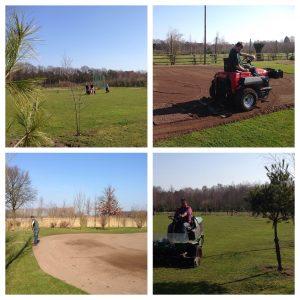 Golfbaan voorbereidingen